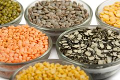 Grains pulses and beans Stock Image