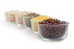 Grains pulses and beans stock photos