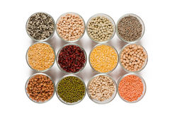 Grains pulses and beans Stock Photography