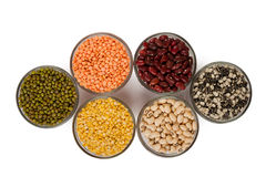 Grains pulses and beans Royalty Free Stock Photos