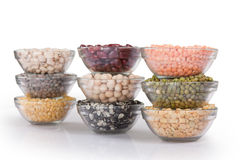 Grains pulses and beans Stock Images