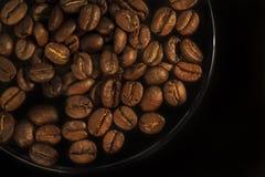 Grains rôtis parfumés pour le fond de café de matin images stock