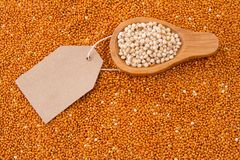 Grains of red and white sorghum Sorghum.  Royalty Free Stock Images