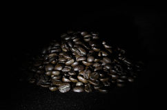 Grains of roasted coffee Royalty Free Stock Photography