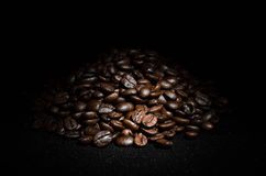 Grains of roasted coffee Royalty Free Stock Images