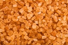 Grains of sugar or sucrose Royalty Free Stock Photos