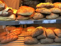 Grainy breads Stock Photos