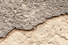Grainy broken concrete wall Royalty Free Stock Images