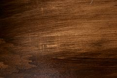 Grainy Dark Wood Surface Stock Photography