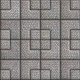 Grainy Paving Slabs. Seamless Tileable Texture. Royalty Free Stock Photos