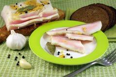 Graisse avec l'ail et les épices Photo libre de droits