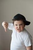 Graisse puissante épaisse d'exercice de sport de muscle de formation de force d'enfant de garçon Image libre de droits