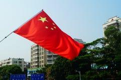 grająca główna rolę czerwona flaga Fotografia Stock