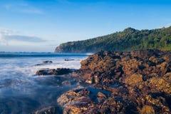 Grajagan Bay banyuwangi in the morning stock image
