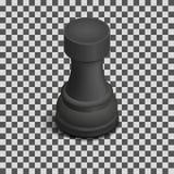 Gralha preta isométrica, ilustração da parte de xadrez do vetor ilustração royalty free