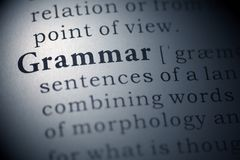 Gramática Fotografía de archivo libre de regalías