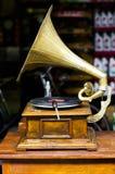 Gramófono de la conclusión del vintage Fotografía de archivo libre de regalías