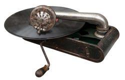 Gramófono del portable de la vendimia Fotografía de archivo