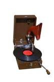 Gramófono retro con el disco Foto de archivo libre de regalías
