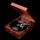 Gramófono viejo Imágenes de archivo libres de regalías