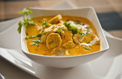 Gram Flour Curry. Curry of Gram Flour in a dish Royalty Free Stock Photos