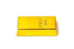 200 gram gold bar or ingot, isolated Stock Image