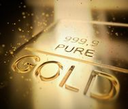 1000 Gram Gold Bar Investment royalty free stock photography