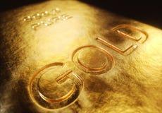 1000 gram guld- stänger Arkivfoton