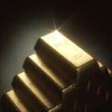1000 gram guld- stång Fotografering för Bildbyråer
