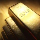 1000 gram guld- stång Arkivfoton
