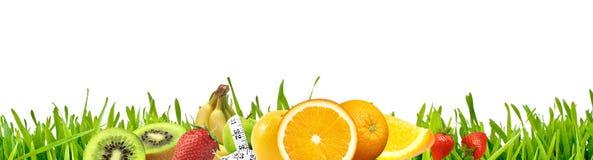 Grama & frutas Foto de Stock Royalty Free