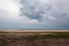 Grama ao lado do mar Fotografia de Stock Royalty Free