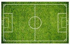 Grama de um campo de futebol Fundo do campo de futebol ou do campo de futebol Fotografia de Stock Royalty Free