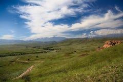 Grama do céu da garganta do vale Fotos de Stock Royalty Free