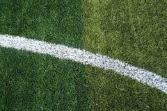 grama do campo de futebol Fotos de Stock