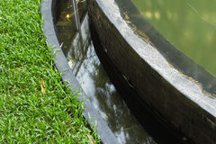 Grama e água Foto de Stock