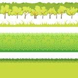 Grama e arbustos ilustração royalty free