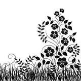 Grama e flor, vetor Fotos de Stock Royalty Free