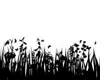 Grama e flores ilustração royalty free