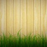 Grama e madeira Imagem de Stock Royalty Free