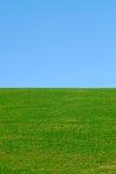 Grama verde, céu azul imagens de stock