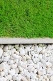 Grama verde e pedra Foto de Stock Royalty Free