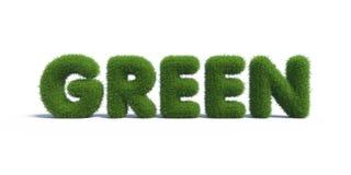 Grama verde sob a forma das letras Imagens de Stock