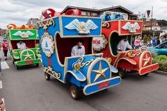 Gramado圣诞节游行巴西 免版税库存照片
