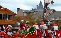 Gramado, зона Rio Grande do Sul, Бразилия - украшения рождества в городе Стоковые Изображения RF