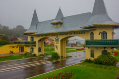 GRAMADO, BRAZIL - MAY 06, 2016: portico da entrada it is one of many entrance to the city, the building looks like a Royalty Free Stock Photography