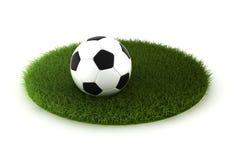 Gramado da grama com esfera de futebol ilustração royalty free