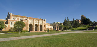 Gramado do campus universitário Imagem de Stock Royalty Free