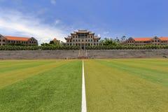 Gramado no estádio da universidade de xiamen, adôbe rgb Fotos de Stock Royalty Free