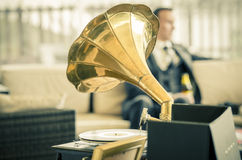 Gramaphone de la boda del vintage Imagen de archivo